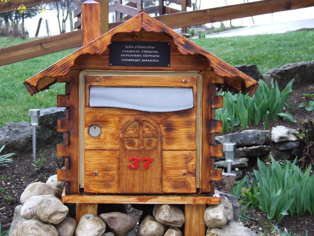 Boite Aux Lettres En Bois Chalet : Boite Aux Lettres en Bois Chalet Boite Aux Lettres Chalets